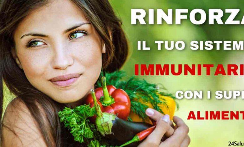 Alimenti che rinforzano realmente le nostre difese immunitarie