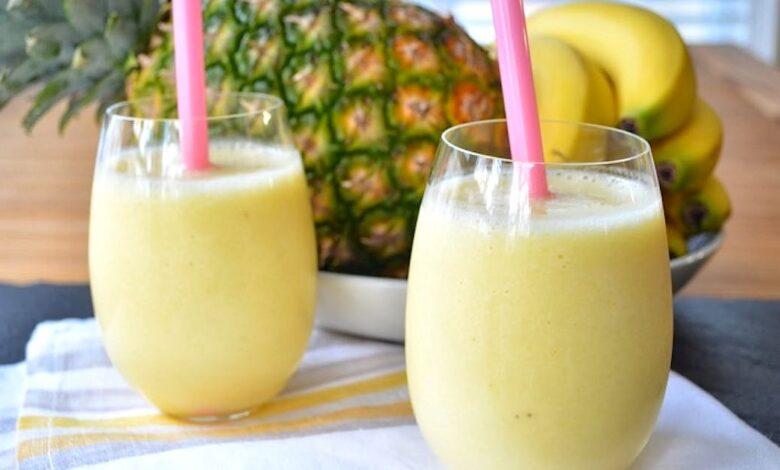 il frullato di ananas e banana