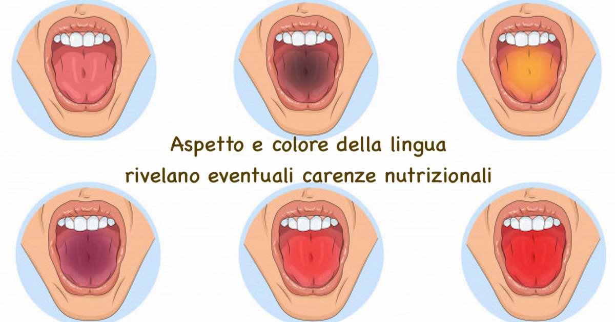 Aspetto e colore della lingua rivelano eventuali carenze nutrizionali