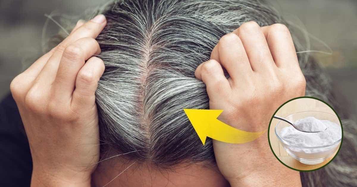 Come usare il bicarbonato di sodio per coprire i capelli bianchi