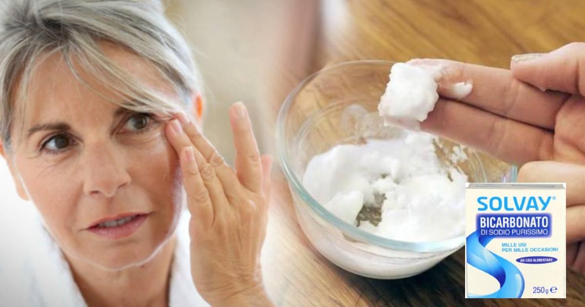 Crema antirughe al bicarbonato