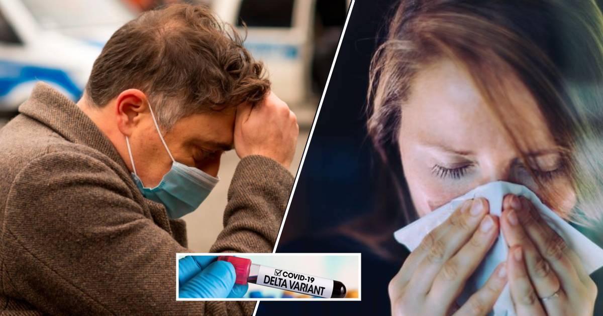 Variante Delta mal di testa al naso che cola